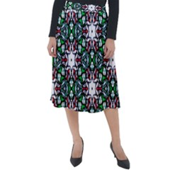Stained Glass Pattern Church Window Classic Velour Midi Skirt