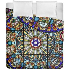 Vitrage Stained Glass Church Window Duvet Cover Double Side (california King Size)