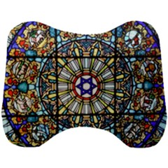 Vitrage Stained Glass Church Window Head Support Cushion