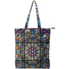 Vitrage Stained Glass Church Window Double Zip Up Tote Bag