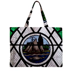 Window Image Stained Glass Zipper Mini Tote Bag by Pakrebo