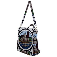 Window Image Stained Glass Crossbody Backpack by Pakrebo