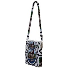 Window Image Stained Glass Multi Function Travel Bag