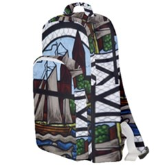 Window Image Stained Glass Double Compartment Backpack by Pakrebo