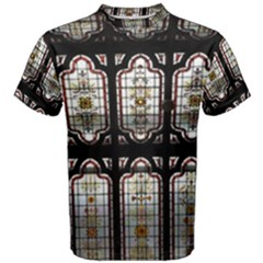 Stained Glass Window Repeat Men s Cotton Tee