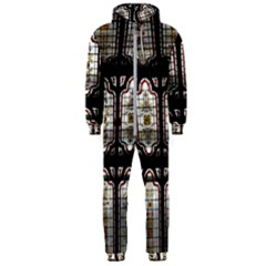 Stained Glass Window Repeat Hooded Jumpsuit (men)