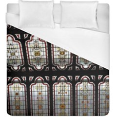 Stained Glass Window Repeat Duvet Cover (king Size) by Pakrebo