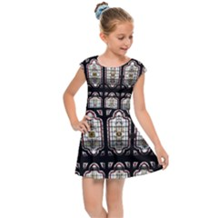 Window Image Stained Glass Kids  Cap Sleeve Dress
