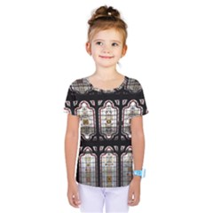 Window Image Stained Glass Kids  One Piece Tee