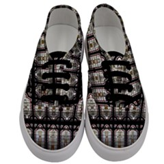 Window Image Stained Glass Men s Classic Low Top Sneakers