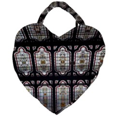 Window Image Stained Glass Giant Heart Shaped Tote