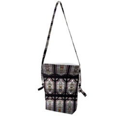 Window Image Stained Glass Folding Shoulder Bag by Pakrebo