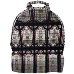 Window Image Stained Glass Mini Full Print Backpack by Pakrebo