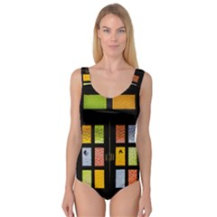 Window Stained Glass Glass Colors Princess Tank Leotard