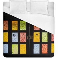Window Stained Glass Glass Colors Duvet Cover (king Size) by Pakrebo