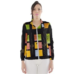 Window Stained Glass Glass Colors Windbreaker (women)