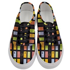 Window Stained Glass Glass Colors Women s Classic Low Top Sneakers