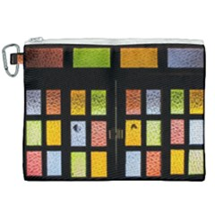 Window Stained Glass Glass Colors Canvas Cosmetic Bag (xxl)