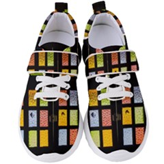 Window Stained Glass Glass Colors Women s Velcro Strap Shoes