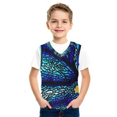 Sea Fans Diving Coral Stained Glass Kids  Sportswear by Pakrebo