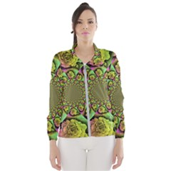 Rose Painted Kaleidoscope Colorful Windbreaker (women)