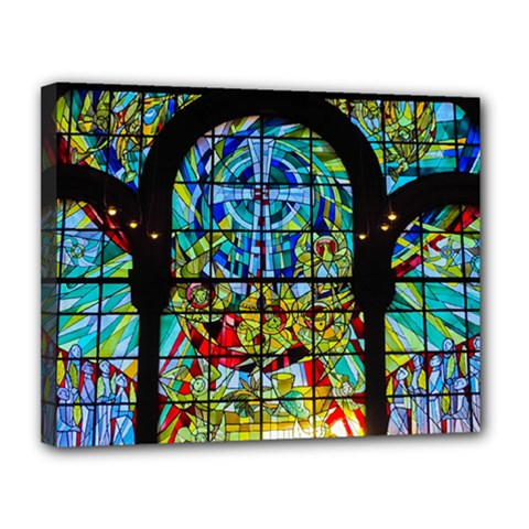 Church Church Window Window Canvas 14  X 11  (stretched)