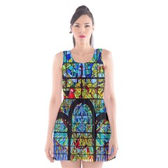 Church Church Window Window Scoop Neck Skater Dress