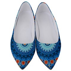 Rose Kaleidoscope Art Pattern Women s Low Heels