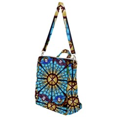 Church Window Stained Glass Church Crossbody Backpack
