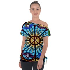 Church Window Stained Glass Church Tie Up Tee