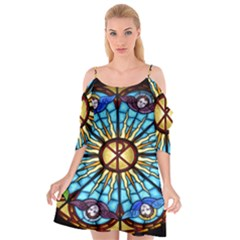 Church Window Stained Glass Church Cutout Spaghetti Strap Chiffon Dress
