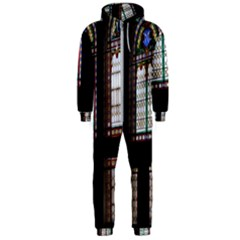 Stained Glass Window Krotoszyn Hooded Jumpsuit (men)