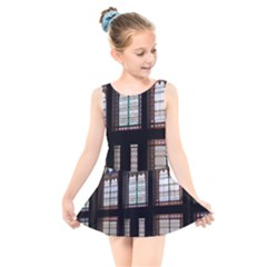 Stained Glass Window Krotoszyn Kids  Skater Dress Swimsuit