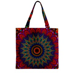 Kaleidoscope Mandala Pattern Zipper Grocery Tote Bag