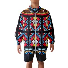 Stained Glass Window Colorful Color Windbreaker (kids)