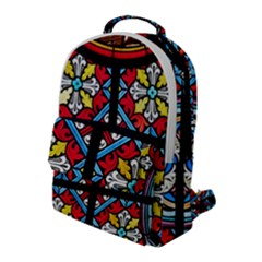 Stained Glass Window Colorful Color Flap Pocket Backpack (large)