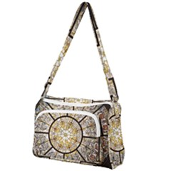 Stained Glass Window Glass Ceiling Front Pocket Crossbody Bag