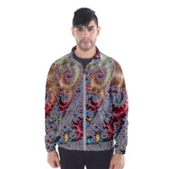 Fractal Artwork Design Pattern Windbreaker (men)