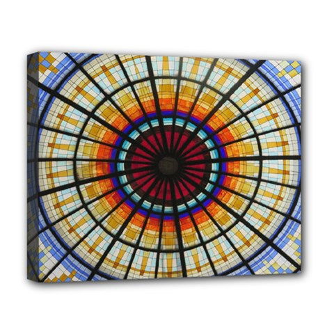 Background Stained Glass Window Deluxe Canvas 20  X 16  (stretched)