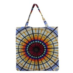 Background Stained Glass Window Grocery Tote Bag