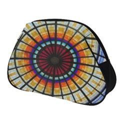 Background Stained Glass Window Full Print Accessory Pouch (small) by Pakrebo