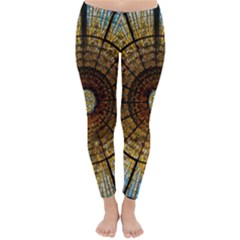 Barcelona Glass Window Stained Glass Classic Winter Leggings