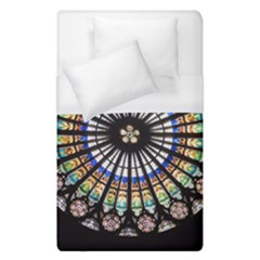 Stained Glass Cathedral Rosette Duvet Cover (single Size)