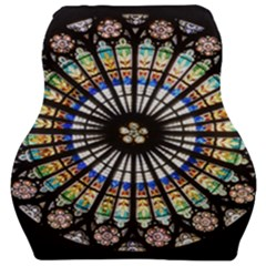 Stained Glass Cathedral Rosette Car Seat Velour Cushion