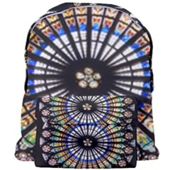 Stained Glass Cathedral Rosette Giant Full Print Backpack