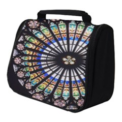 Stained Glass Cathedral Rosette Full Print Travel Pouch (small)
