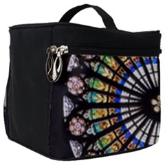 Stained Glass Cathedral Rosette Make Up Travel Bag (big)