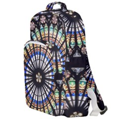 Stained Glass Cathedral Rosette Double Compartment Backpack