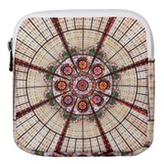 Pattern Round Abstract Geometric Mini Square Pouch by Pakrebo