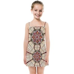 Pattern Round Abstract Geometric Kids  Summer Sun Dress by Pakrebo